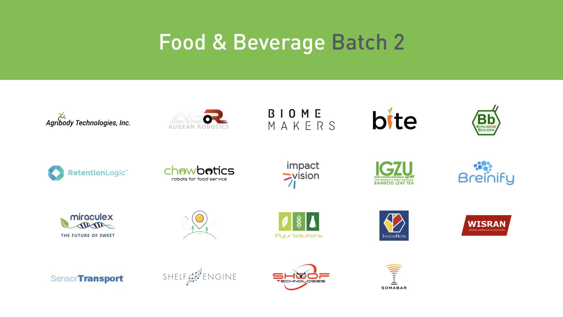 Plug and Play Food & Beverage startups