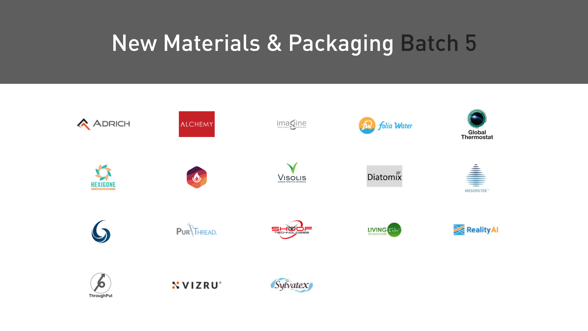 Plug and Play New Materials startups
