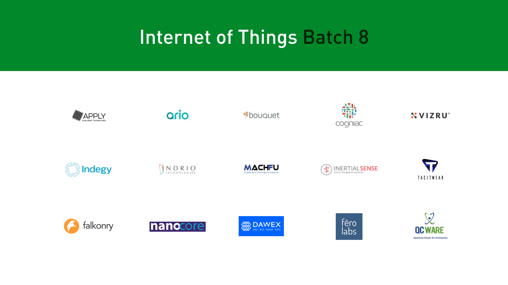 Plug and Play IoT startups