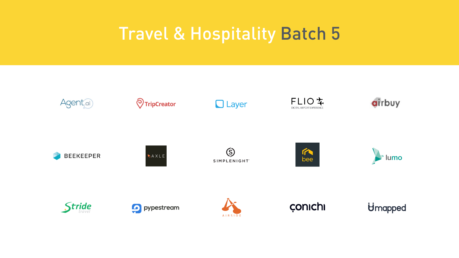 Plug and Play New Traveltech startups